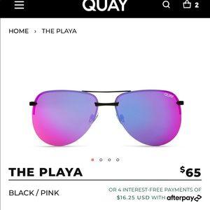 Quay Oversized The Playa sunglasses brand New !